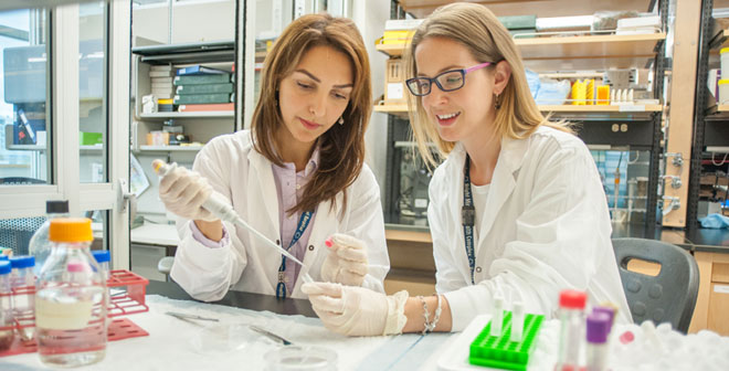 Mount Sinai Hospital researchers in the lab