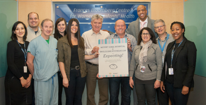Smilezone announcement with Dr. Sermer, Scott Bachly of Smilezone and Jerome Williams