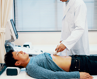 representative image of doctor checking patient
