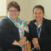 Our team of Clinic Assistants, Mara Paredes, Rosalie Cabrera and Chivlen Quimpang