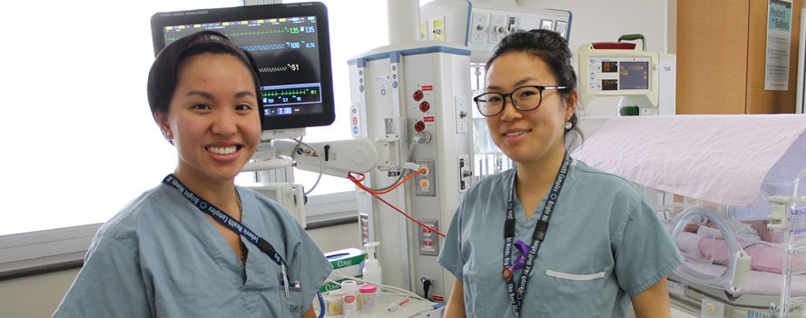 Professional nurses at Mount Sinai Hospital