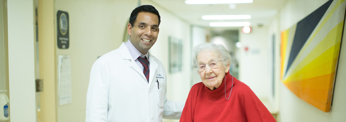 Dr. Samir Sinha and senior patient