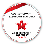 badge for Accrediated with Exemplary Standing