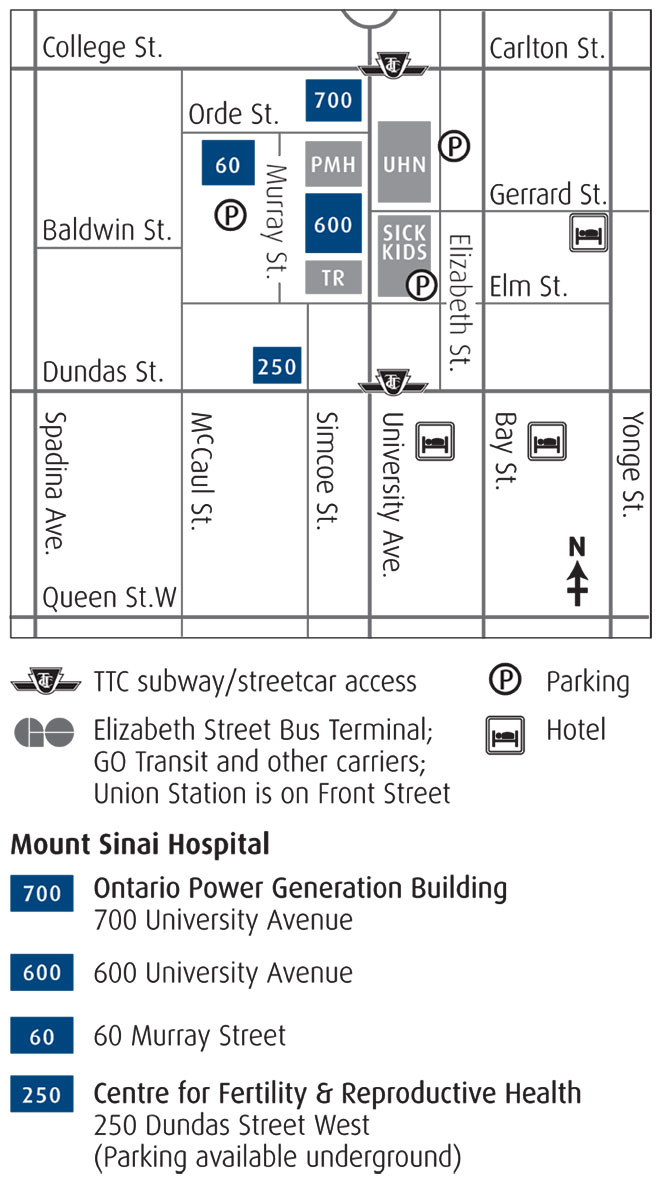 map and directions to mount sinai hospital