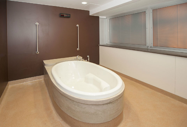 A soaker tub for pain management in the new Slaight Family Labour & Delivery Unit
