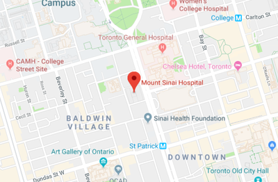 Mount Sinai Map — Mount Sinai Hospital - Toronto